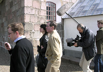 Ted Sorensen visiting Mors in Denmark May 2003 with his daughter Juliet