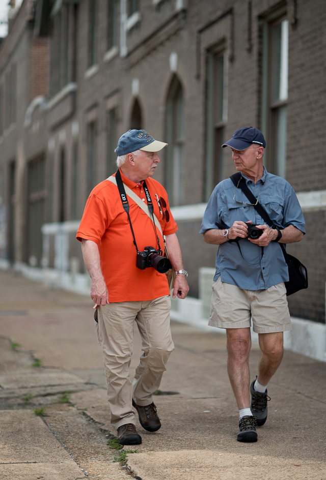 Out and about on Manchester Avenue in St. Louis. Jerry Benner and . Leica M10 with Leica 75mm Noctilux-M ASPH f/1.25. © 2018 Thorsten von Overgaard.
