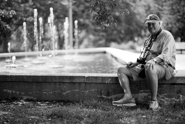 Dick Miles taking a rest in Forest Park. Leica M10 with Leica 75mm Noctilux-M ASPH f/1.25. © 2018 Thorsten von Overgaard.