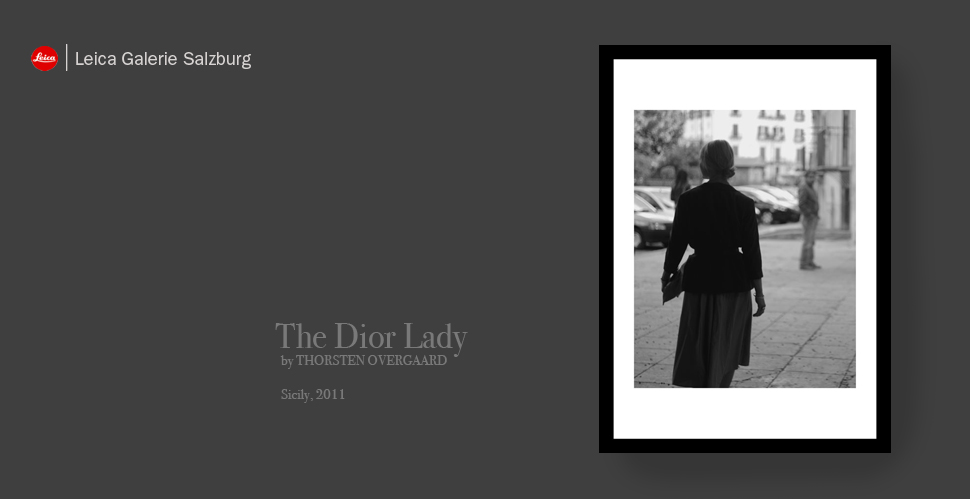 """The """"Dior Lady"""" from """"The Salzburg Collection"""", first published at Leica Galerie Salzburg in 2012. © Thorsten Overgaard."""