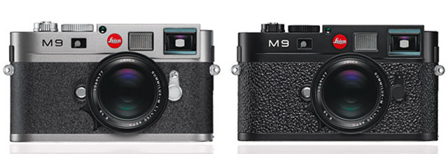 Leica M9 in silver-gray and Leica M9 in black