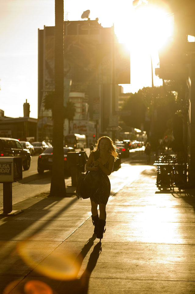 Sunset at Sunset Boulevard. Leica M9 with 50mm Summicron-M f/2.0