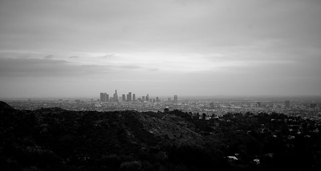 Los Angeles seen from Hollywood Hill. Leica M9 with Leica 50mm Summicron-M f/2.0