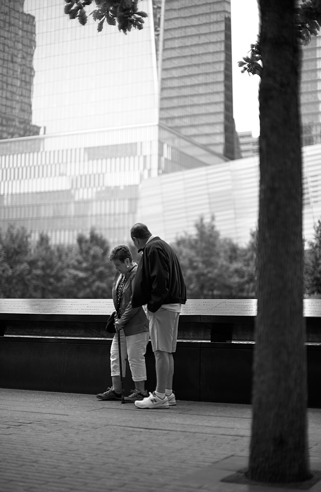 I visited the 911 memorial, realizing it's been 25 years since I was last there. Back then I saw it from the top of the Twin Towers. Leica M10 with Leica 50mm Noctilux-M ASPH f/0.95. © 2018 Thorsten von Overgaard.