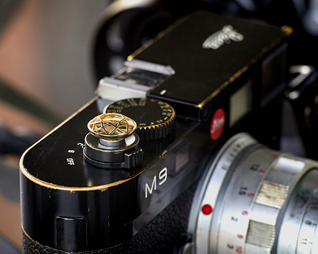 Soft release button from Bashert Jewelry on my Leica M9.