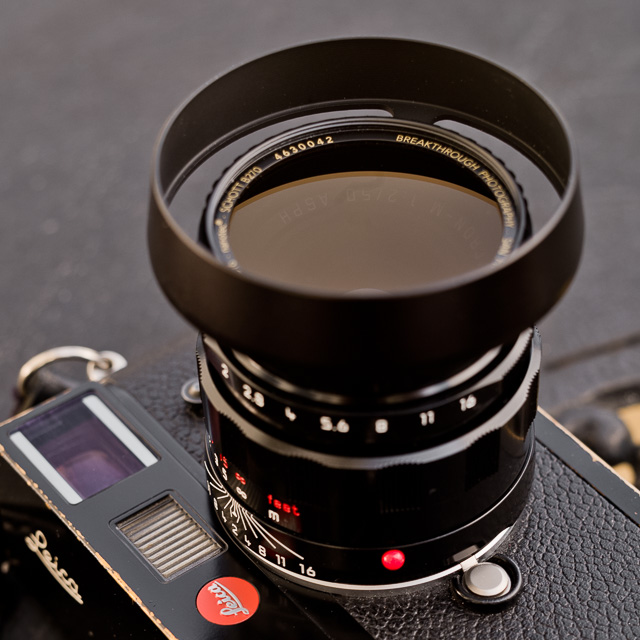 The San Francisco-based company Breakthrough Photography makes the probably best ND filters available. Here it is their X4-ND in 46mm 3-stop.