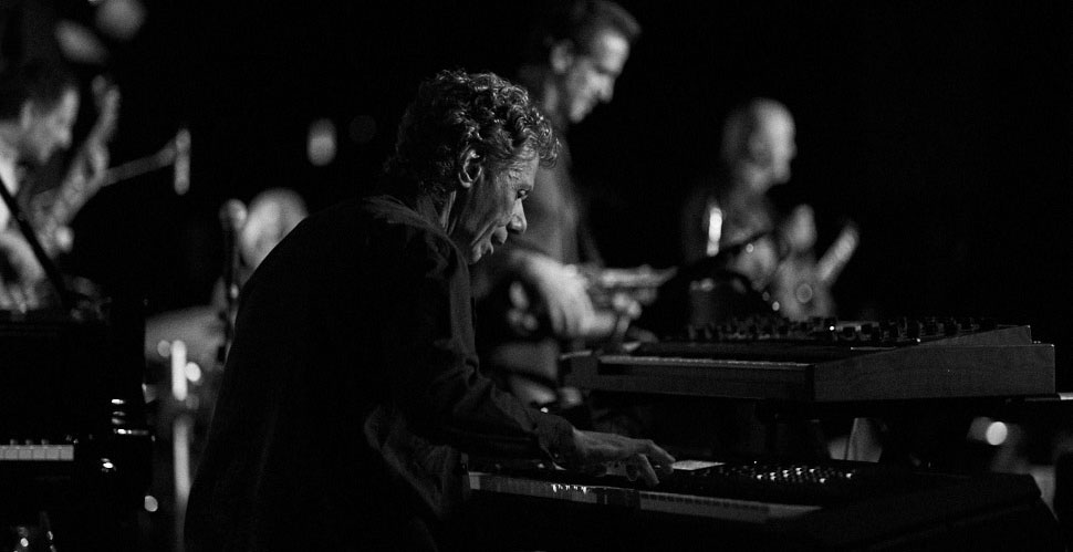 Chick Corea with Chick Corea Electric Band, in Los Angeles. Leica M10 with Leica 75mm Noctilux-M ASPH f/1.25. © 2018 Thorsten von Overgaard.