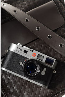 "The Leica M9 in metal-grey paint (with a black lens) prominently displayed in the New York Times' fashion section on September 10, 2009, ""Dress Codes Accessories for Men"""