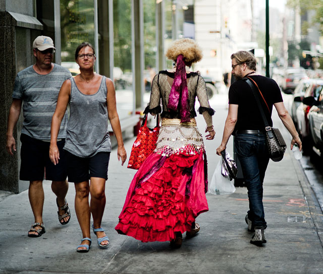 After the New York Workshop model shoot. Joy Villa and Thorsten in the streets of New York. Photo by Jeff Jacques