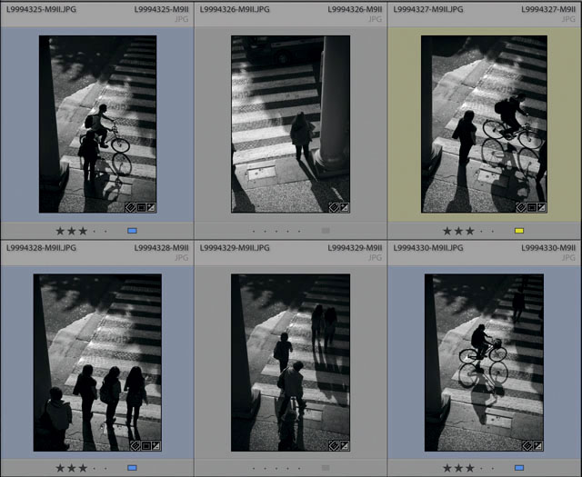 The contact sheet of the six pictures I took out through the window. © 2016 Thorsten Overgaard.