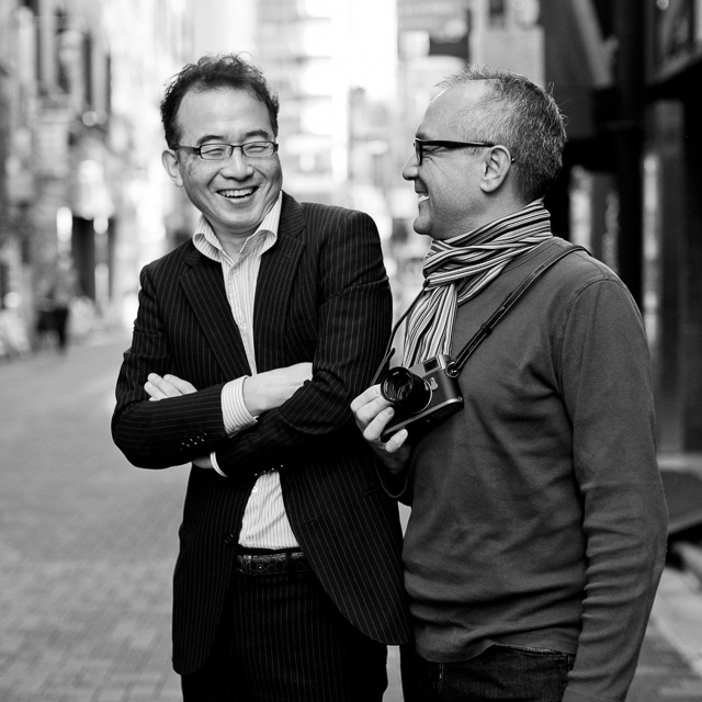 Takahashisan from Leica Store Ginza with Steve Collins