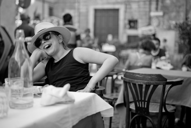 My daughter Robin Isabella hanging out at restaurant Maccheroni in Rome. Leica M 246 with Leica 50mm APO-Summicron-M ASPH f/2.0. © 2016 Thorsten Overgaard.
