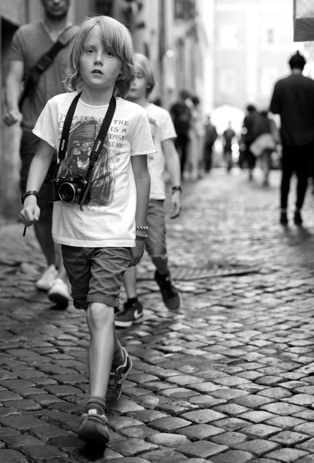 A young photographer out and about in Rome. Leica M 246 with Leica 50mm APO-Summicron-M ASPH f/2.0. © 2016 Thorsten Overgaard.