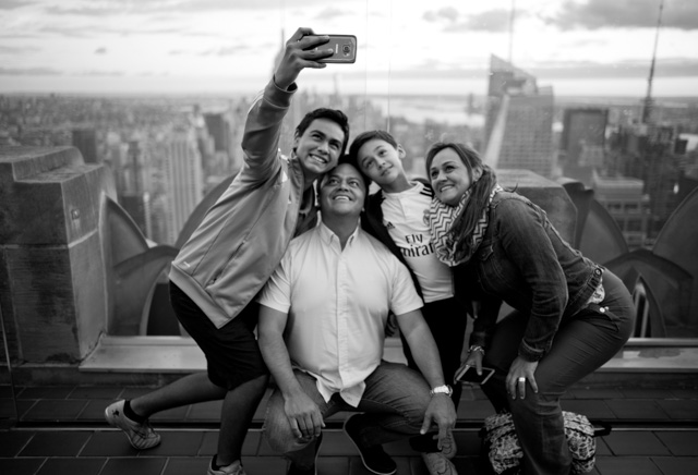 Family selfie with Empire State and Manhatten in the background.Leica M 246 with Leica 28mm Summilux-M ASPH f/1.4. © 2016 Thorsten Overgaard.