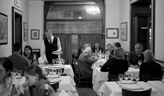 Inside Rome's oldest restaurant, La Campana, that opened in 1518. Leica M10 with Leiac r50mm Summilux-M ASPH f/1.4 BC. © 2017 Thorsten Overgaard.