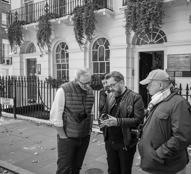 Questions and answers on the road. Fitzroy Square in London by Eric Scots-Knight.