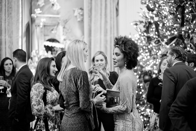 I saw this photogenic scene from the other side of the buffet and started photographing. It took me five minute before I noticed that Joy was talking with First Daughter Ivanka Trump. Leica M10 with Leica 50mm Summilux-M ASPH f/1.4 BC. © 2017 Thorsten von Overgaard.