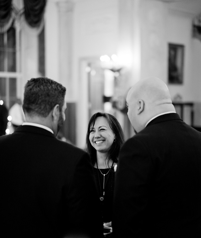 Special Assistant to the President, Jennifer Korn, talking with guests in the Entrance Hall of the White House. Leica M10 with Leica 50mm Summilux-M ASPH f/1.4 BC. © 2017 Thorsten von Overgaard.