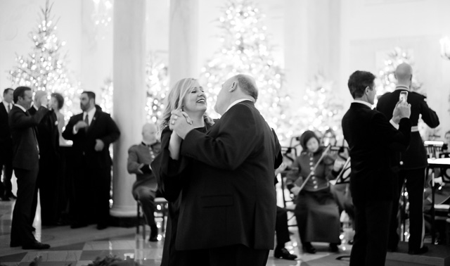 Father-and-daughter of Family Anderson dances in the Entrance Hall of the White House. Leica M10 with Leica 50mm Summilux-M ASPH f/1.4 BC. © 2017 Thorsten von Overgaard.