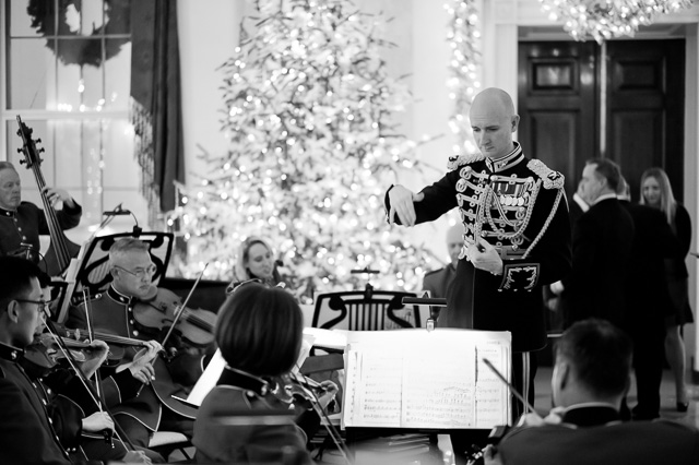 The orchestra in the Entrance Hall of the White House. Leica M10 with Leica 50mm Summilux-M ASPH f/1.4 BC. © 2017 Thorsten von Overgaard.