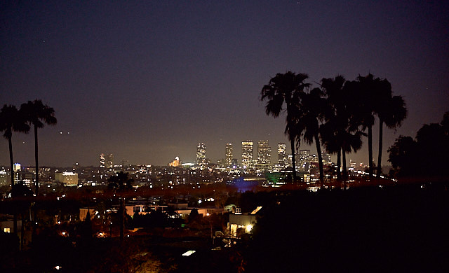 A clear nigth in West Hollywood with a view to Beverly Hills. Leica M10 with Leica 75mm Noctilux-M ASPH f/1.25. © 2018 Thorsten von Overgaard.