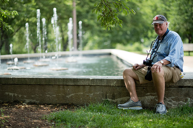 Dick Miles in Forest Park, St. Louis. Leica M10 with Leica 75mm Noctilux-M ASPH f/1.25. © 2018 Thorsten von Overgaard.