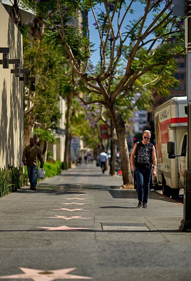 Hollywood Boulevard by the Duran Duran star, Los Angeles. Leica M10 with Leica 75mm Noctilux-M ASPH f/1.25. © 2018 Thorsten von Overgaard.