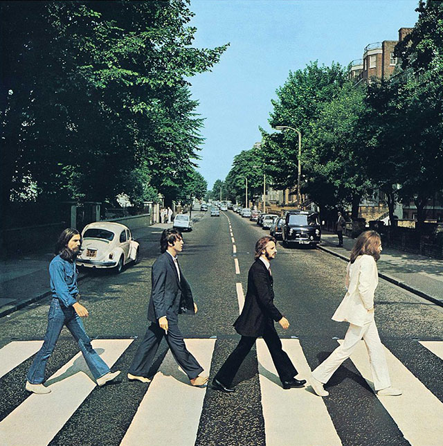 Rhythm in photograph: The Beatles album cover for Abbey Road. Photo: Iain Macmillan.