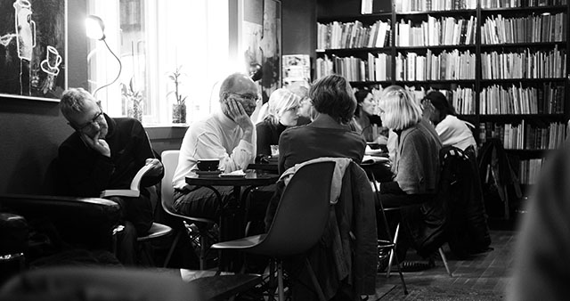 "Denmark 2009: The ""hygge"" concept is to be indoor with cozy lights, drink coffee, read and talk while it is dark and cold outside. As in this cafe in Denmark. Leica M9. © Thorsten Overgaard."