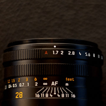 The aperture can be set to A, which is Automatic Aperture.