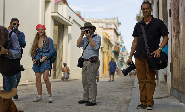 He manged to take this photo! Street life in Havana, Cuba. Leica M9 with Leica 50mm Summilux-M ASPH f/1.4 BC.