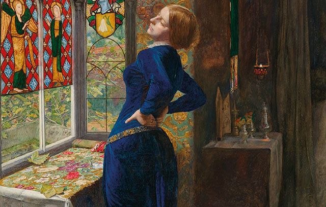 "John Everett Millais I would say was a 28mm or 35mm painter, mostly. This is his painting ""Mariana""."