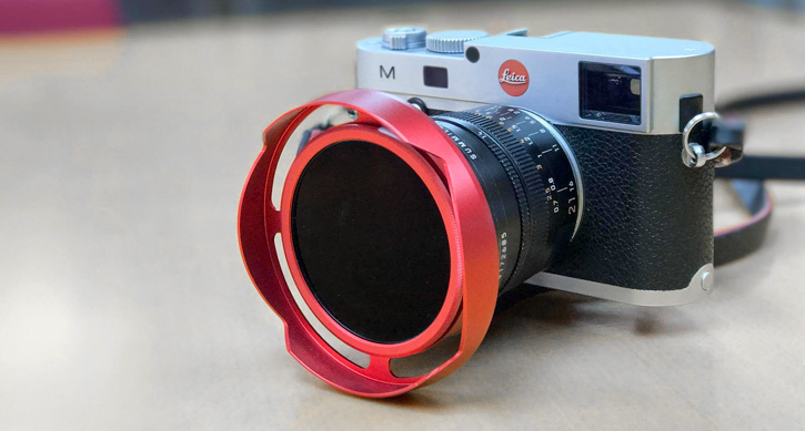 Leica 21mm Summilux-M ASPH f/1.4 with Series VIII 3-stop ND filter mounted.