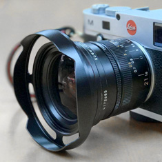 Ventilated Lens Shade  for Adventurers made for the Leica 21mm Summilux-M ASPH f/1.4