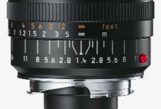 Leica DOF scale on 21mm Summilux-M lens