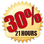 30% DISCOUNT FOR 48 HOURS