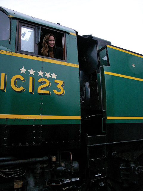 Kelly Preston at Bluebell Railways