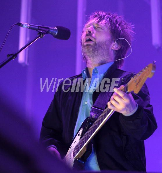 Thom Yorke of Radiohead performs at the Roskilde Festival 2008