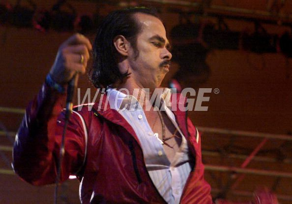 Nick Cave of Grinderman performs at the Roskilde Festival 2008