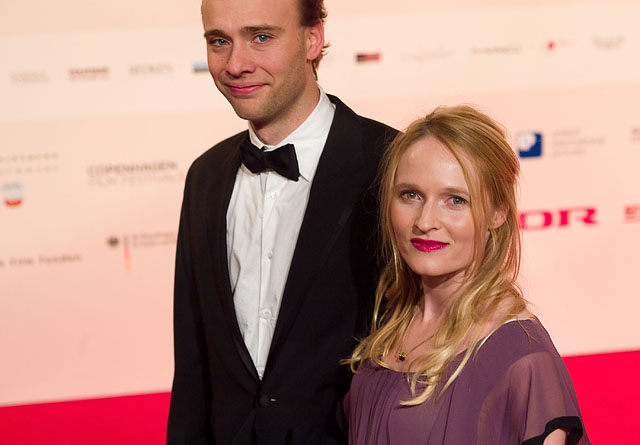 Mille Hoffmeyer Lehfeldt and husband arrives at European Film Awards at Forum on December 6, 2008 in Copenhagen, Denmark  (Photo by Thorsten Overgaard/WireImage)