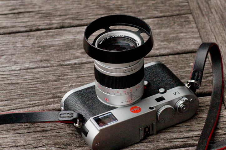 Leica 90mm Summarit-M f/2.4 with Thorsten von Overgaard ventilated lens shade.