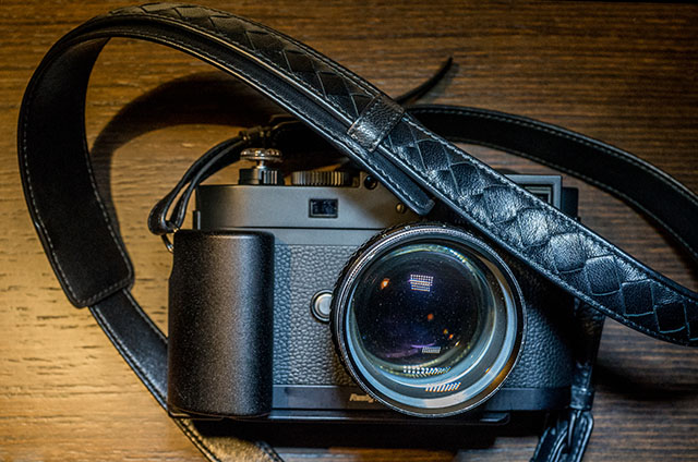 Bottega Veneta camera strap.