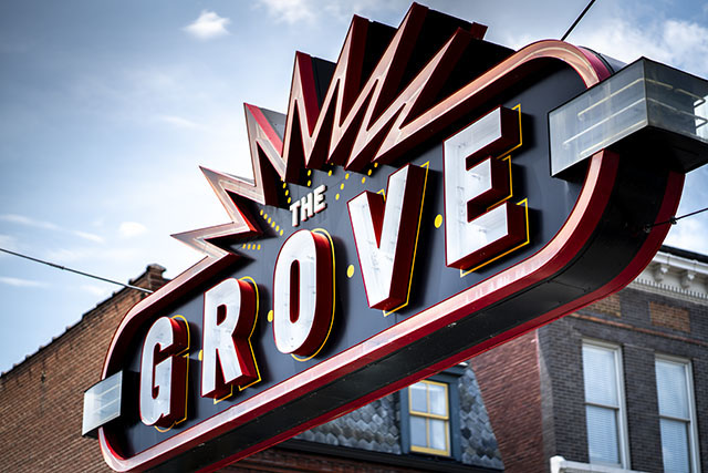 The neon sign into The Grove area in St. Louis, by Jerry Benner. Sony A7.