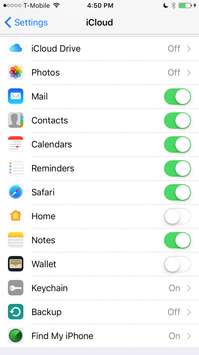 On your phone, make sure to disconnect from iCloud Drive, Photos and Backup: