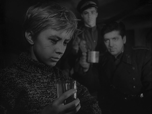 Ivan's Childhood (1962, cinematography by Vadim Yusov, directed by Andrei Tarkovsky (and Eduard Abalov).