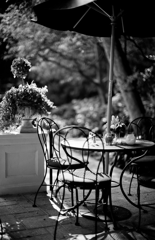 The garden 8:00 AM at The Manor Hotel (Chateau Elysee) in Hollywood. This is my office in the morning when in Los Angeles. Did you notice where the focus is ... and did it matter? Leica M 240 with Leica 50mm Noctilux-M ASPH f/0.95. © 2014-2016 Thorsten Overgaard.