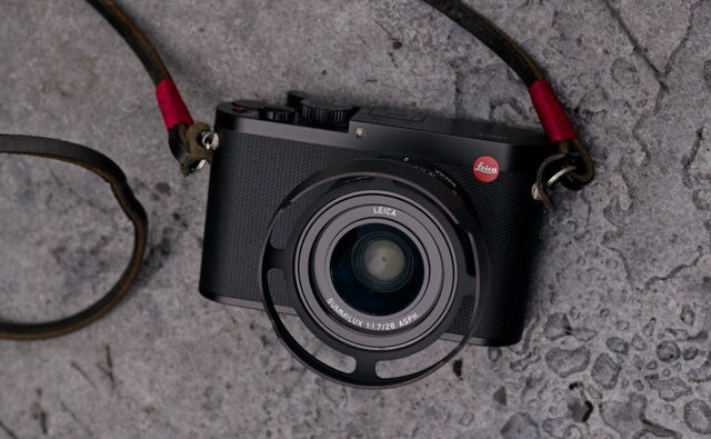 Leica Q with ventilated lens shade.