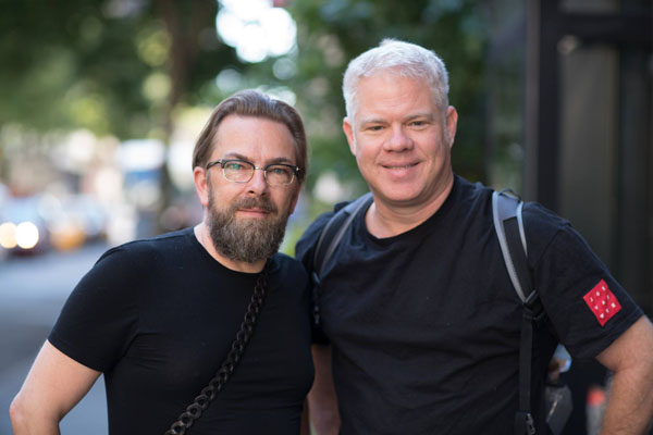 Joe Van Wyk with Thorsten von Overgaard in New York