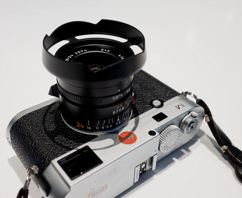 Ventilated lens hade for 35mm FLE also fits the Leica 24mm Elmarit-M f/3.8.