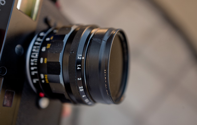 A 49mm B+W ND-filter (3 stop or 8X) attached with isolation tape on the Leica 50mm Noctilux-M f/1.2. © 2016 Thorsten Overgaard.